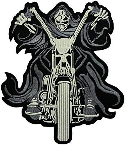 Jgzcs Ghostrider Backpatch Rückenaufnäher Xxl Ca 21 5 X 25 5 Cm Auto