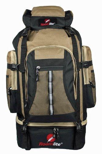 80 85 Litre Backpacks Rucksacks Bags - Camping Hiking Ruck sack Bag - Extra Large XL Size - Glastonbury Festival Backpack - Super Lightweight 1kg - Waist, Sternum Straps - Roamlite RL02M