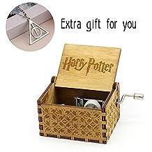 Hand Crank Music Box - Original 18 Note Mechanism Music Box Craft Gurdy (Harry Potter(Hedwig Theme))