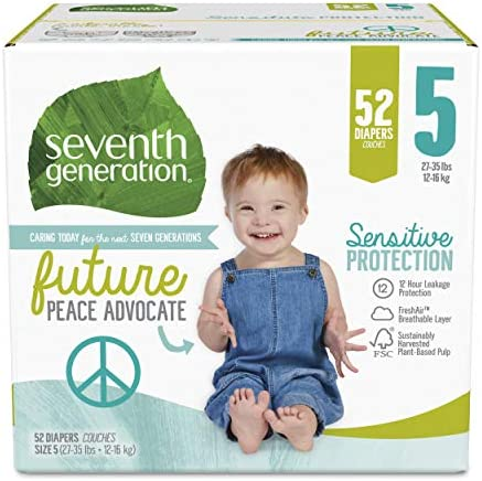 Seventh Generation Baby Diapers Sensitive Protection Size 5 52 Count