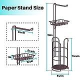 KeFanta Upgrade Toilet Paper Holder Stand, Bronze