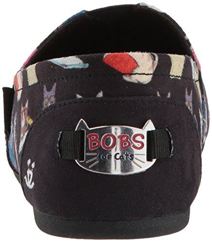 estudiosos Bob Gatos Cats de Bobs Felpa Negro Plush Studious Mujer Skechers32569 qwYTW