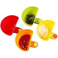 BESTOMZ Dip clips cuencos para salsas set de 4
