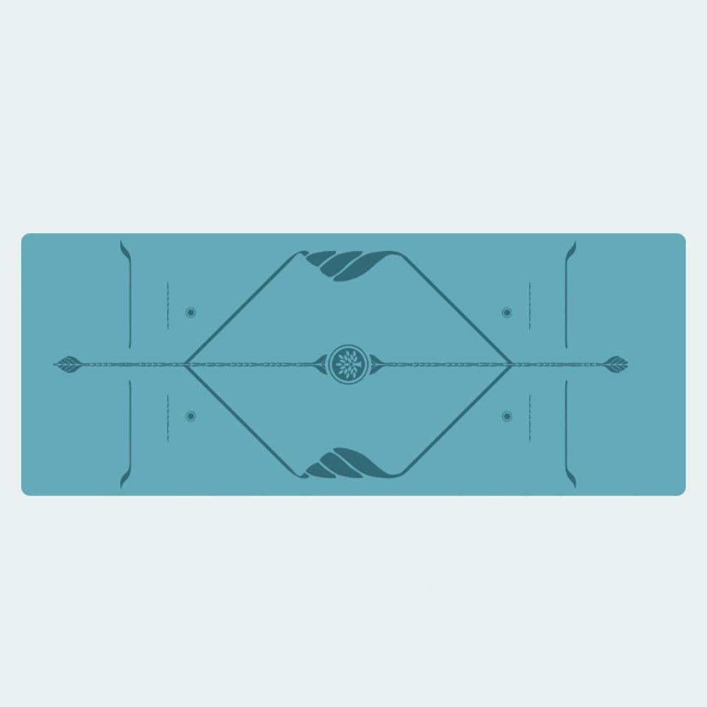 Yogamatte / rutschfeste Fitness-Matte / Naturkautschuk-Yogamatte / Männer und Frauen-im Freiensport / 183  68CM ( Farbe : Blau )