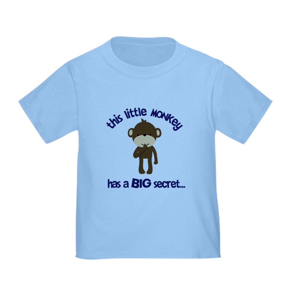 CafePress - Monkey Has Secret Big Brother - Cute Toddler T-Shirt, 100% Cotton