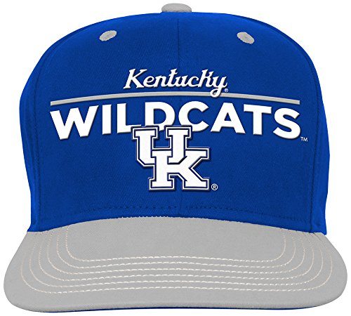 NCAA Kentucky Wildcats Youth Outerstuff Retro Bar Script Flat Brim Snapback Hat Team Color Youth One Size