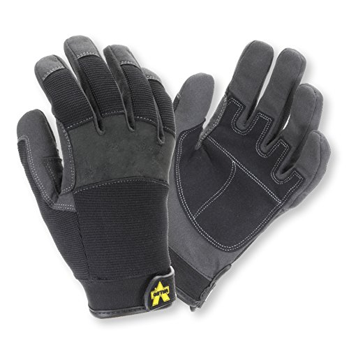 Valeo V140 Synthetic Leather Work Gloves for Construction, Handyman, and DIY Featuring Shrink Resistant, Improved Dexterity, Tough, and Stretchable Design