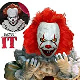 Halloween Costumes Mask Horrific Demon Adult Scary Pennywise Clown Cosplay Props Devil Flame Zombie Mask