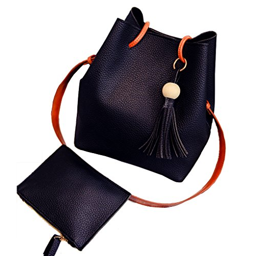 - Caszel Classy Chic Womens PU Leather Shoulder Crossbody Purse Hobo Bag with Clutch