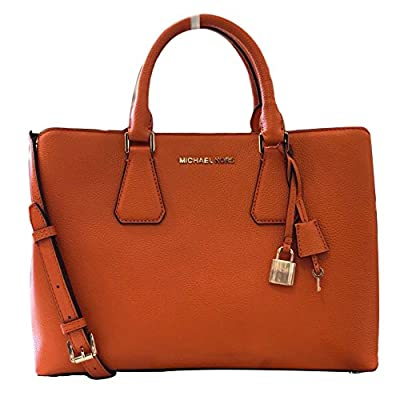 Michael Kors Camille LG Satchel Leather Tangerine (35S8GCAS3L)