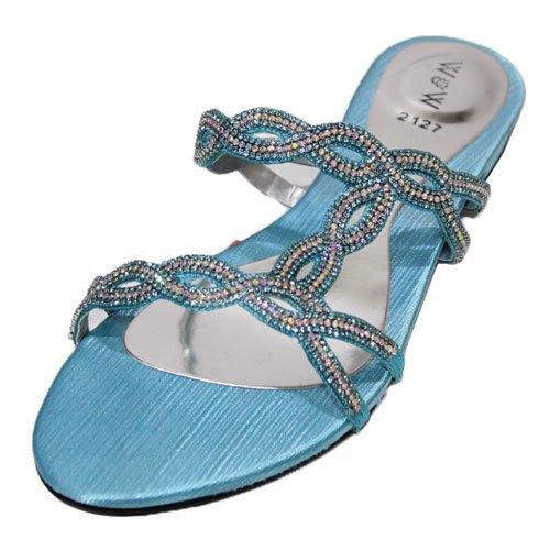 Wear & Walk UK - Sandalias de vestir para mujer Turquesa - turquesa