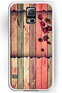 Generic SPRAWL Beautiful Vintage Design Hard Shell for Samsung Galaxy note4 Hard Plastic Back Case for Women -- Colorful Wooden Board and Red Maple Leaves