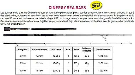 Caña Spinning Cinnetic Cinergy Sea Bass 270 m: Amazon.es: Deportes ...