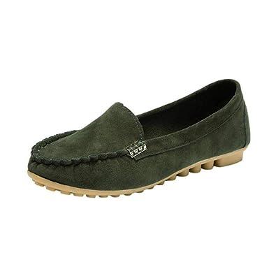 Grande Taille Femme Loafers Plates Mocassins En soldes Cuir Flats qGSUzVpM