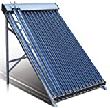 Duda Solar 15 Tube Water Heater Collector Slope Roof Frame Evacuated...