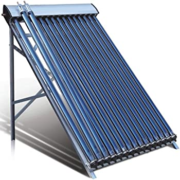 Duda Solar 15 Tube Water Heater Collector 45° Frame Evacuated Vacuum Tubes SRCC Certified Hot