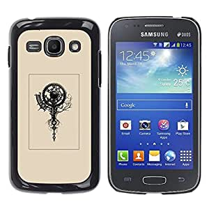 Planetar® ( Beige Poster Retro Clock Engineer Art ) Samsung Galaxy Ace 3 III / GT-S7270 / GT-S7275 / GT-S7272 Fundas Cover Cubre Hard Case Cover