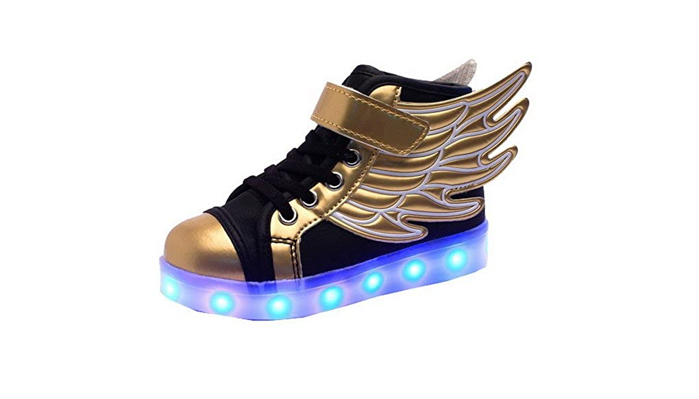 Amazon.com | ACME Child Boy Girl LED Light Up Sneaker Athletic Wings Trainers High-top Shoes USB Charging Shoes | Sneakers