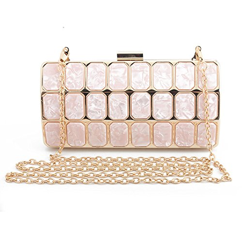 Elegant Bag Wedding with Bag Wallet Evening Women Clutch for Handbag Shoulder Evening Ceremony Small Long Bag for Party with Pink Cocktail for for Handbag EYwdq8RxY