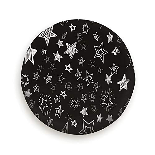 (Cute Hand Drawn Doodle Stars Confetti Abstract Scribble Universal Spare Wheel Tire Cover Fit for Truck Camper Van,Jeep,Trailer, Rv, SUV Trailer Accessories)