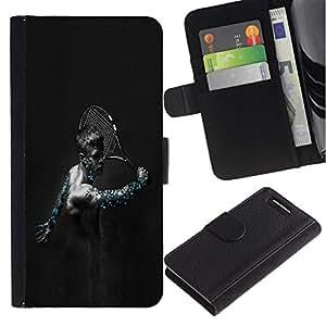 All Phone Most Case / Oferta Especial Cáscara Funda de cuero Monedero Cubierta de proteccion Caso / Wallet Case for Sony Xperia Z1 Compact D5503 // Cybrog Tennis Player