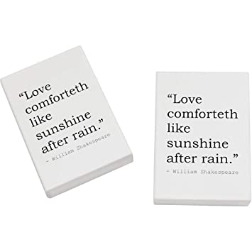 2 X 45mm Love Comforteth Like Sunshine After Rain Quote By