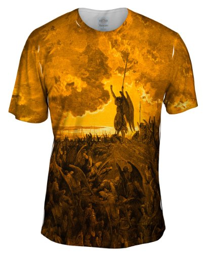 Yizzam- Gustave Dore - Paradise Lost 3 Gold (1857) -TShirt- Mens Shirt-Small