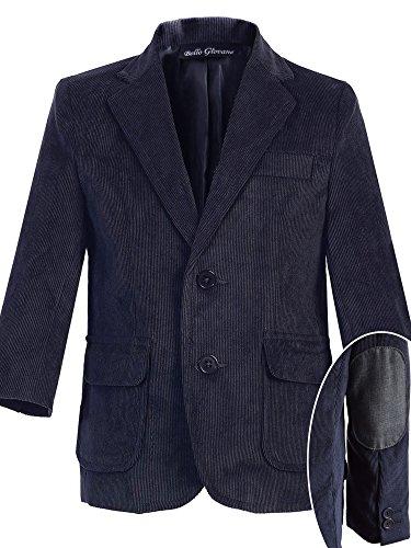Bello Giovane Boys Single Breasted Corduroy Blazer Jacket (10, (Boys Corduroy Blazer)