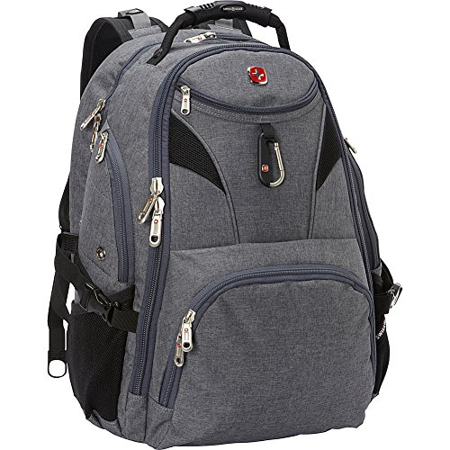 "SwissGear Travel Gear 5977 Scansmart TSA Laptop Backpack for Travel, School & Business - Fits 17"" Laptop - (Grey)"