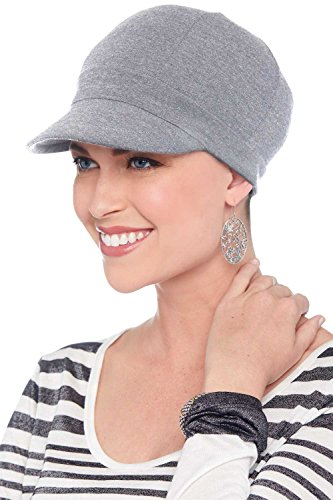 Cardani Bamboo Baseball Cap | Soft Chemo Hats for Cancer Patients | Ballcap Luxury Bamboo - Grey Heather