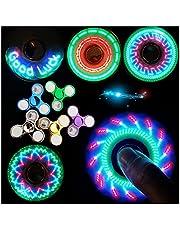 Gyro Spinner Lichtgevende LED licht Fidget Spinner Hand Top Spinners Glow in Donker Licht EDC Figet Spiner Vinger Stress Relief Speelgoed