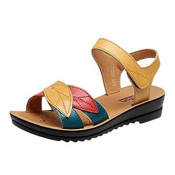 9f825ede7ba22 Amazon.com: ❤ Sunbona Women Flat Sandals Ladies Summer Mixed ...