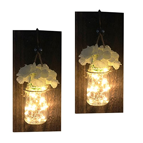 sexyrobot Rustic Jar Wall Sconces Set of Two with