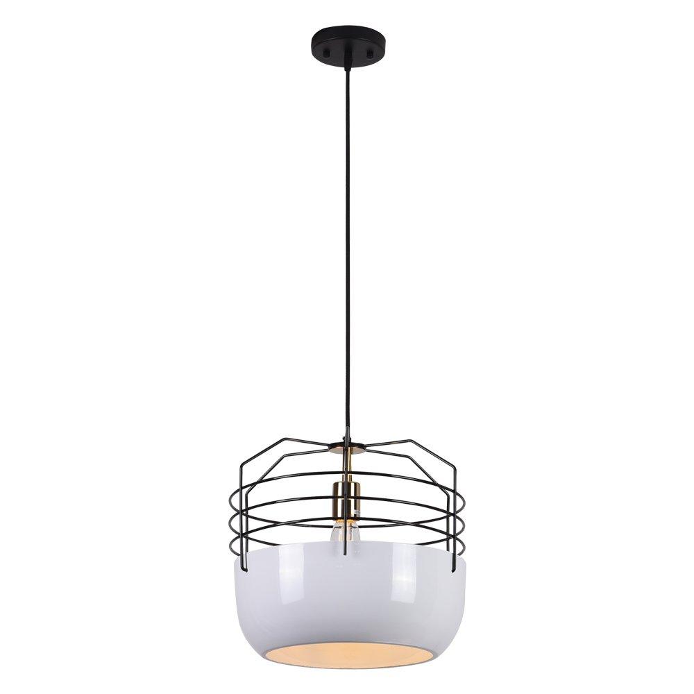 Horisun Vintage E26 Bulb Aluminum Shade Pendant Lamp Industrial Hanging Light Modern Vintage Kitchen Lamp, 5 Years Warranty
