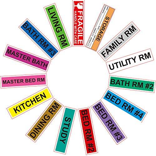 Home Moving Labels Set Color Coding Labels 300 ...