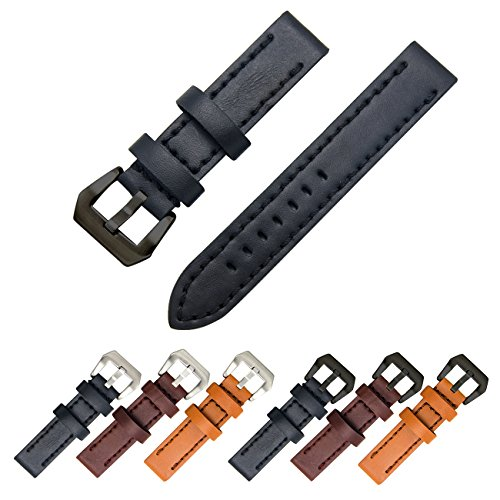 Genuine Leather Watch Band 20mm 22mm 24mm Leather Watch Strap Top Calf Grain Watch Bands for Men