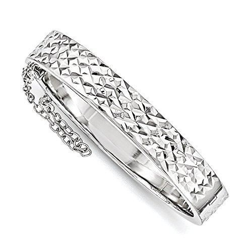 8,4 mm comme maman argent Sterling taille diamant avec sécurité enfant Bracelet à charnière