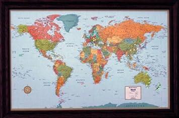 Lightravels illuminated world map with frame by lightravels amazon lightravels illuminated world map with frame by lightravels gumiabroncs Choice Image