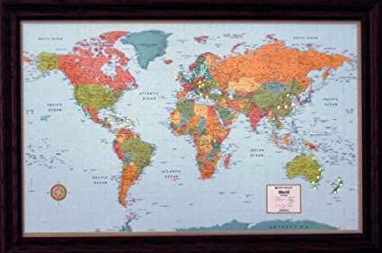 Lightravels Illuminated World Map With Frame