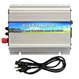 iMeshbean 300W Solar Grid Tie Inverter, MPPT Pure Sine Wave Inverter DC 10.8-30V to AC 110V, Work with 12V / 24V Solar Panel System