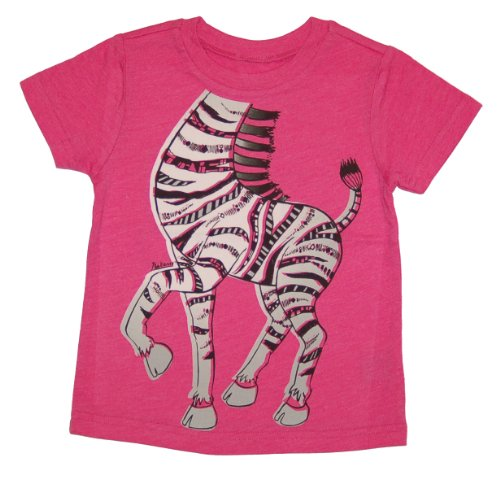 Peek-A-Zoo Toddler Become an Animal Short Sleeve T shirt - Zebra Hot Pink Heather (5T) (Giraffe Hot Pink)