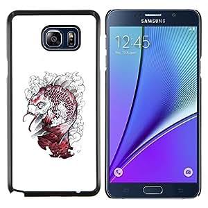 Stuss Case / Funda Carcasa protectora - Kraken Pescado Blanco Monster - Samsung Galaxy Note 5 5th N9200