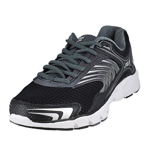 Fila Men's Memory Maranello 3 Athletic Sneakers, Black Leather, Mesh, 9 M (Fila Coolmax Memory Foam Men)