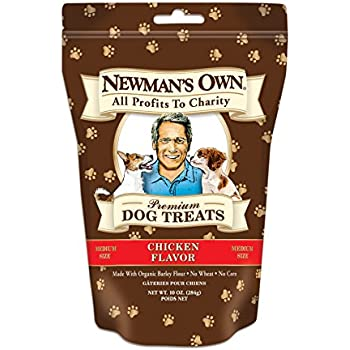 Newman's Own Premium Dog Treats, Chicken, Medium Size, 10-Ounce Bags (Pack of 6)