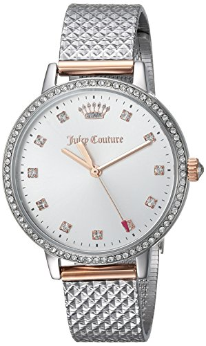 Juicy Couture Women's 'SOCIALITE' Quartz Two and Stainless Steel Dress Watch, Color:Silver-Toned (Model: 1901612)