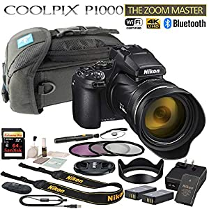 Nikon COOLPIX P1000 125x Optical Zoom Digital Camera Starters Bundle