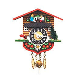 Black Forest Log Chalet Clock with Teeter-Totter