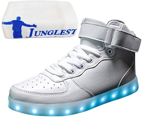 [+Pequeña toalla]De carga USB zapatos de los niños chicos que emite luz zapatos zapatos de los zapatos luminosos LED iluminados deportiva c16