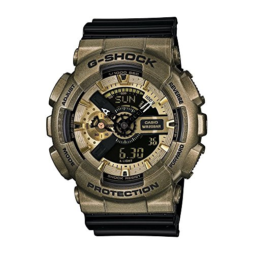 Casio GA110NE-9ACR G-Shock Analog-Digital Dial Black Resin Strap Watch