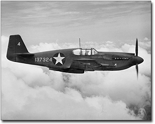 P-51 / P-51C Mustang WWII Fighter 11x14 Silver Halide Photo Print ()